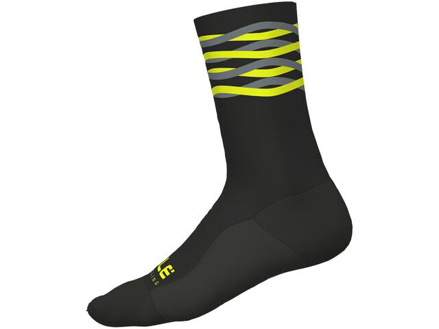 Alé Cycling Speedfondo Winter Socks black-yellow fluo